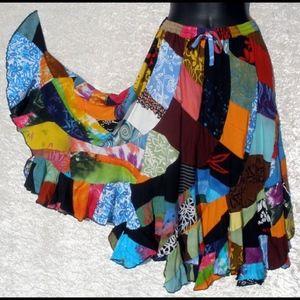 Dresses & Skirts - Patchwork Swirl Skirt. XL. NWOT
